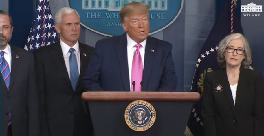 Trump virus news briefing